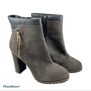 BNWOT Juicy Couture Suede Chunky Heel Boots